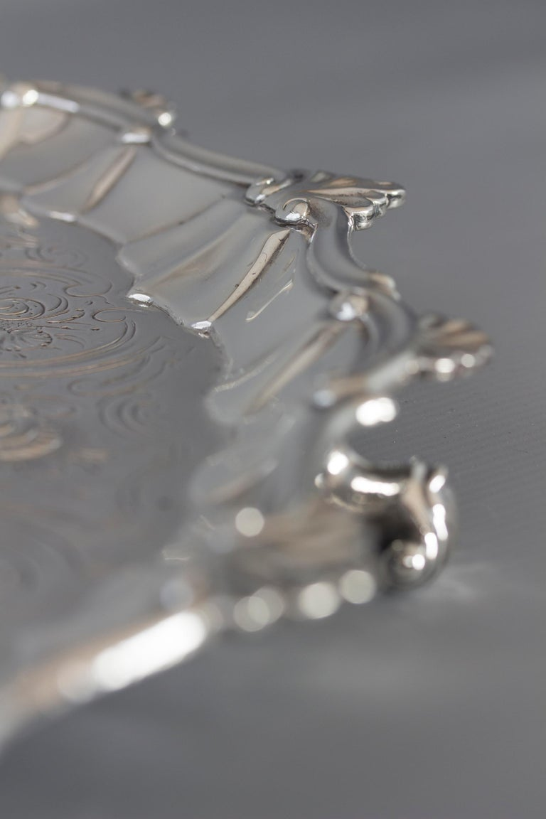 Sterling Silver Very Large Georgian Silver Salver or Tray, London, 1810 For Sale
