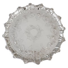 Very Large Georgian Silver Salver or Tray, London, 1810