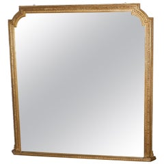 Very Large Gilt Overmantel or Over Mantle Mirror
