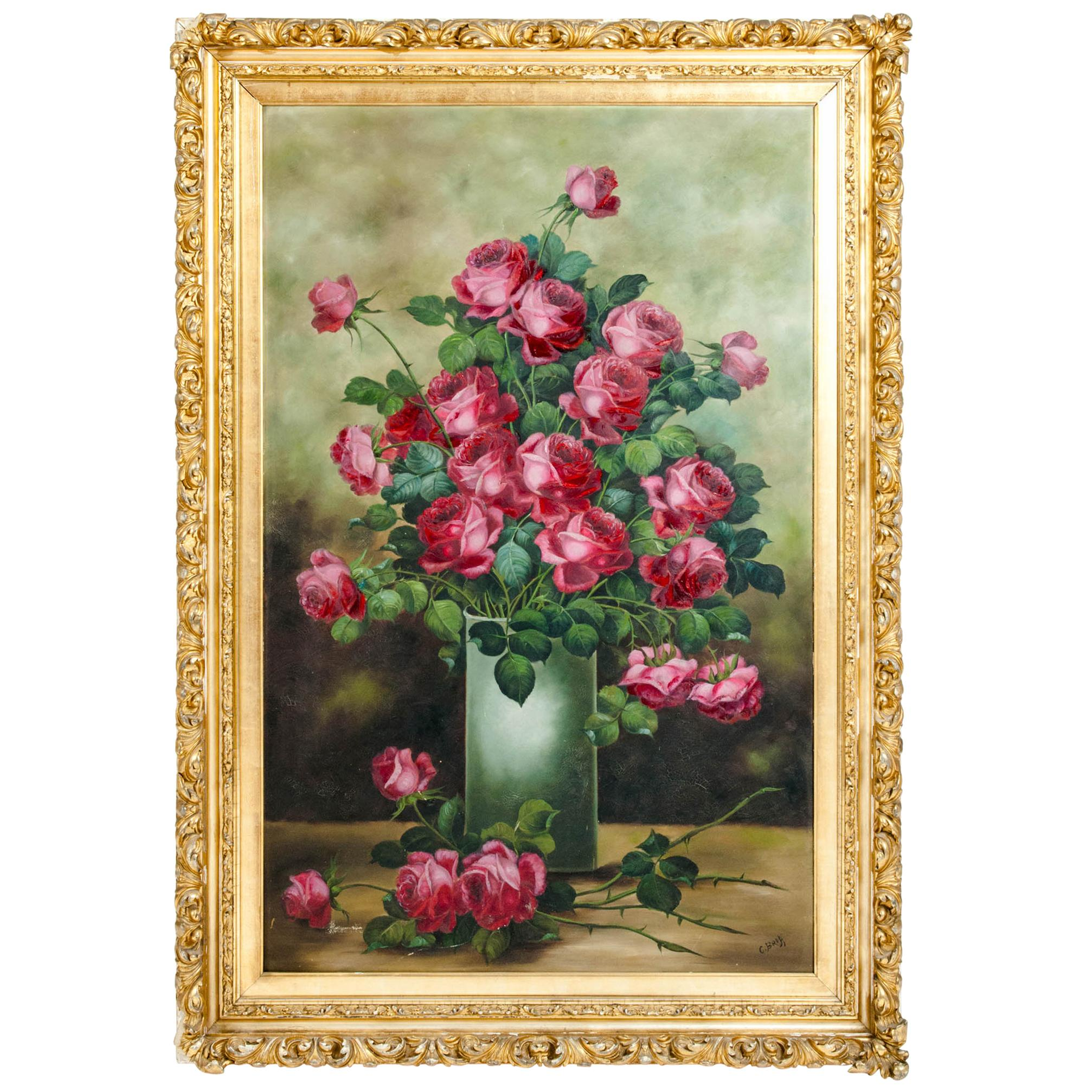 Very Large Giltwood Frame Oil / Canvas Painting