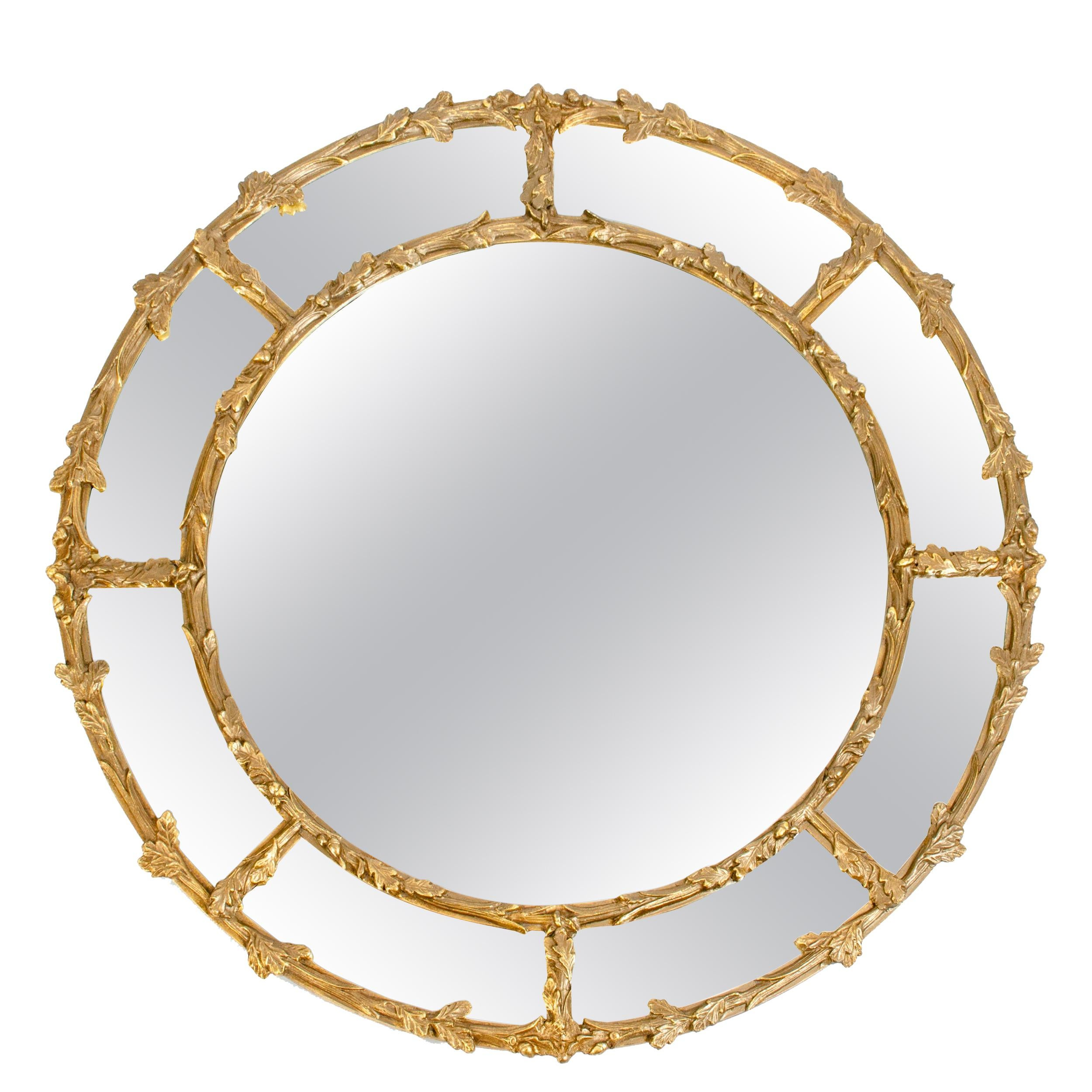 Very Large Giltwood Frame Beveled Hanging Wall Mirror