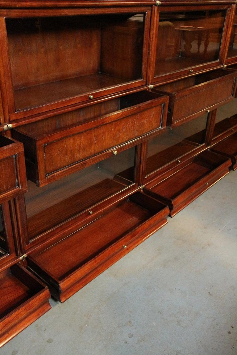 Very Large Globe Wernicke Bookcase At 1stdibs