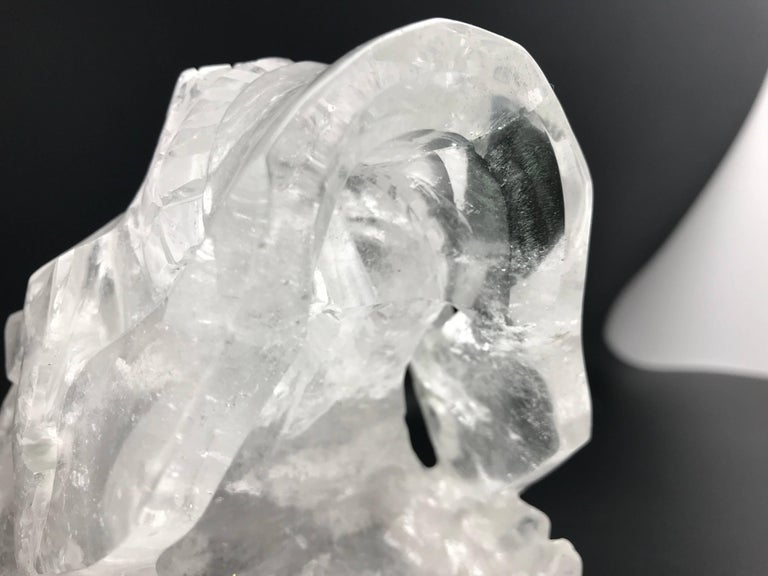 Very Large Hand-Carved Rock Crystal Skull For Sale 1
