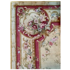 Very Large Handmade 12' x 15' French Aubusson or Savonnerie Style Opulent Rug