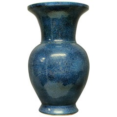 Very Large & Impressive Blue Ground Chinese Vase