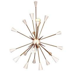 Mid-century Style Large Italian Sputnik Fireworks Chandelier