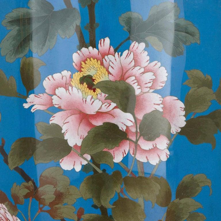 Cloissoné Very Large Japanese Meiji Period Enamel Vase For Sale
