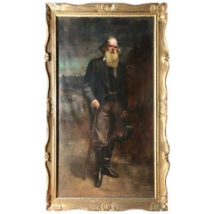 Very Large Late 19th Portrait of a Gentleman