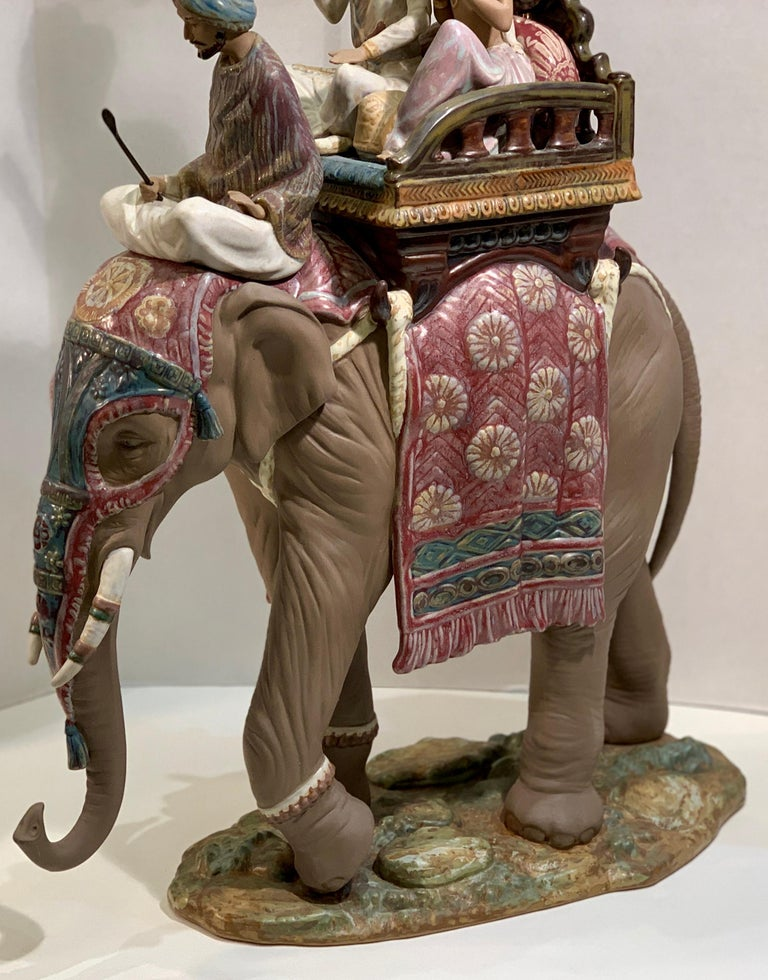 """Very Large Lladro Gres """"Road to Mandalay"""" Limited Edition Retired 1988 Sculpture For Sale 2"""