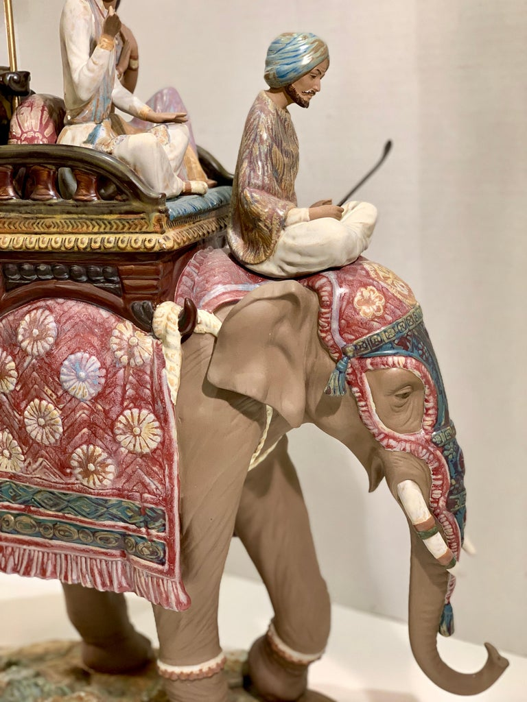"""Very Large Lladro Gres """"Road to Mandalay"""" Limited Edition Retired 1988 Sculpture For Sale 3"""