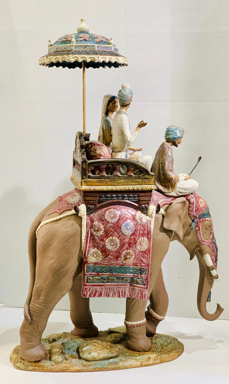 """Anglo Raj Very Large Lladro Gres """"Road to Mandalay"""" Limited Edition Retired 1988 Sculpture For Sale"""
