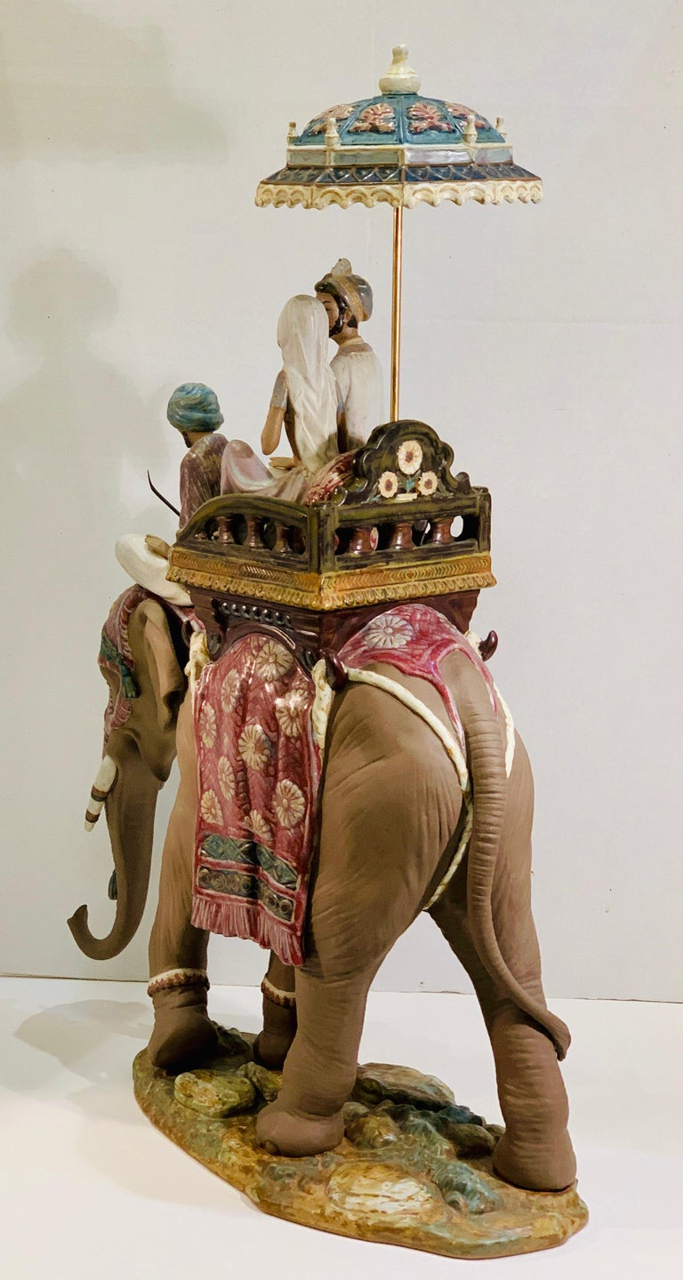 """Spanish Very Large Lladro Gres """"Road to Mandalay"""" Limited Edition Retired 1988 Sculpture For Sale"""