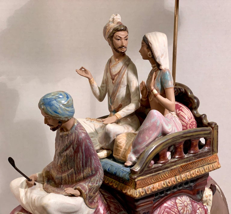 """Hand-Crafted Very Large Lladro Gres """"Road to Mandalay"""" Limited Edition Retired 1988 Sculpture For Sale"""