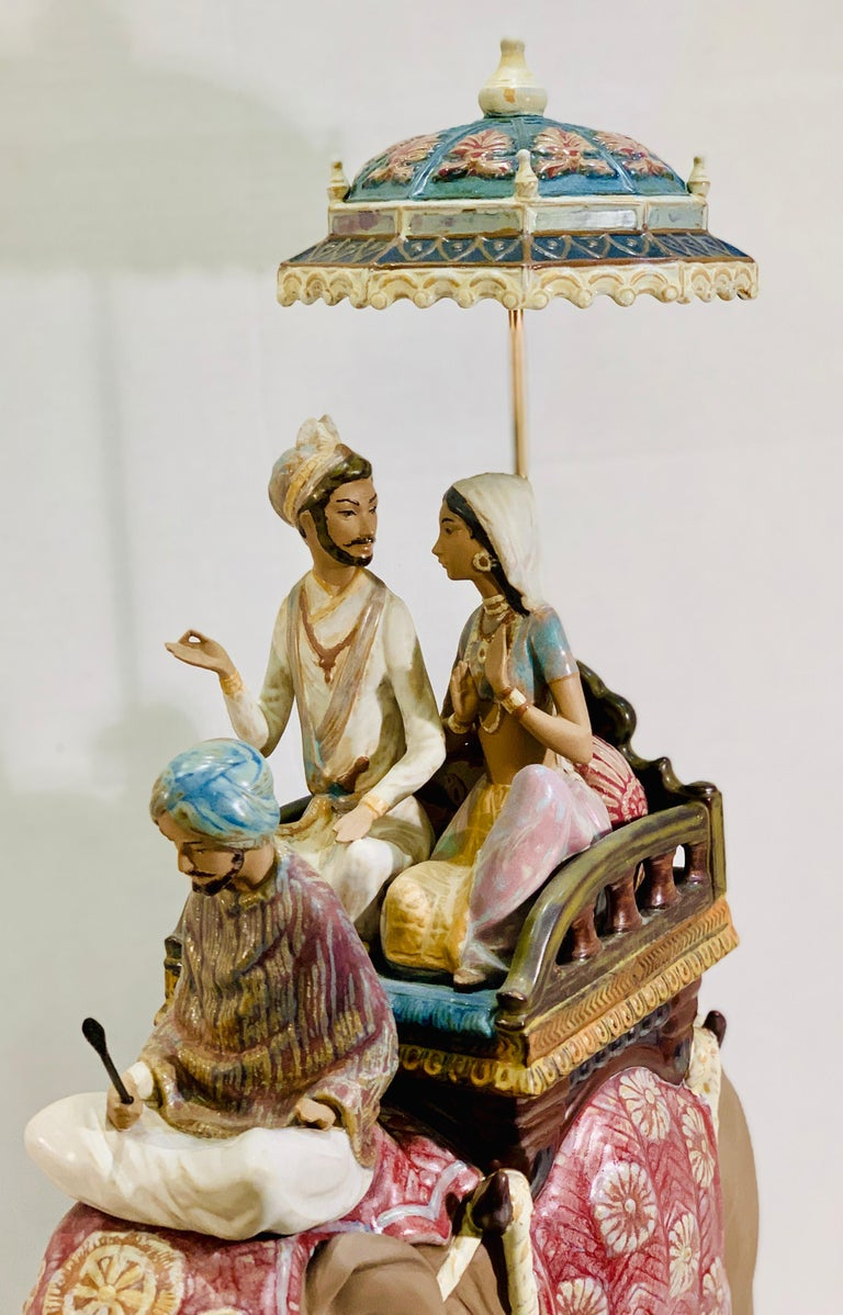 """Very Large Lladro Gres """"Road to Mandalay"""" Limited Edition Retired 1988 Sculpture In Excellent Condition For Sale In Tustin, CA"""