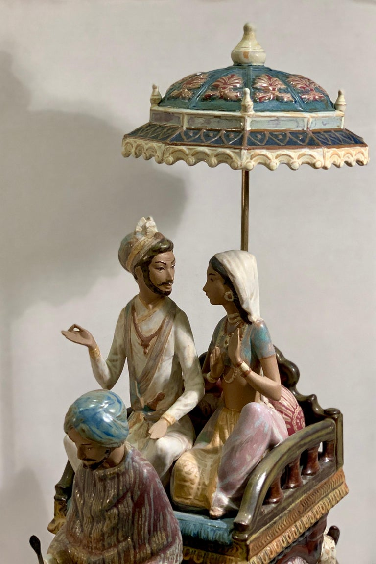 """Late 20th Century Very Large Lladro Gres """"Road to Mandalay"""" Limited Edition Retired 1988 Sculpture For Sale"""