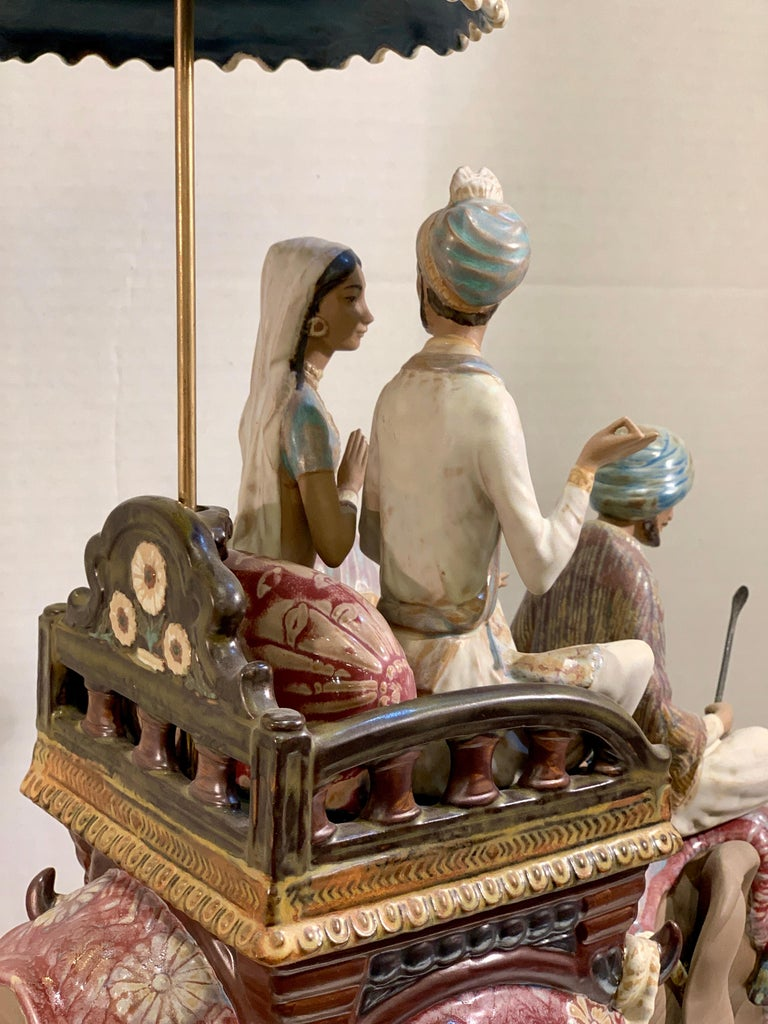 """Porcelain Very Large Lladro Gres """"Road to Mandalay"""" Limited Edition Retired 1988 Sculpture For Sale"""