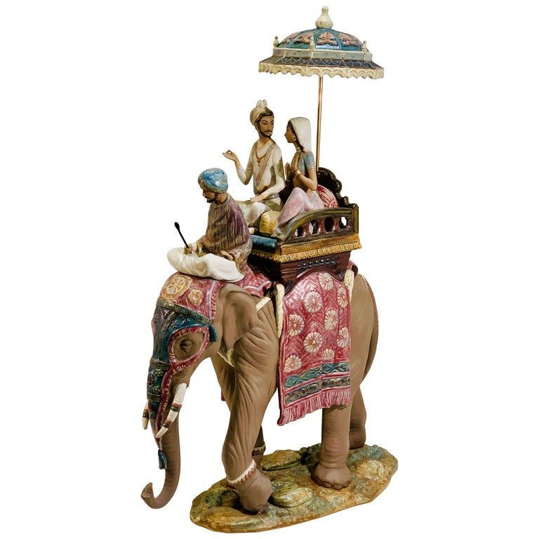 """Very Large Lladro Gres """"Road to Mandalay"""" Limited Edition Retired 1988 Sculpture For Sale"""