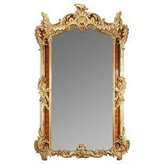 Very Large Louis XV-Style Revival Giltwood Mirror