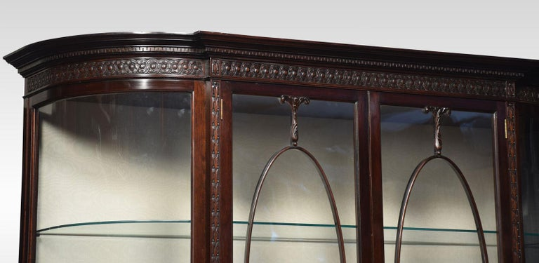 Very Large Mahogany Bow Ended Display Cabinet For Sale 2