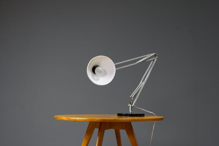 Very Large Mid-Century Modern Desk Light or Table Lamp in White by Hala 1967 In Good Condition For Sale In Beek en Donk, NL