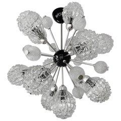 1970s XXL Stilnovo Pendant Light,  Glass