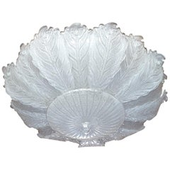 Very Large Midcentury Leaf Murano Glass Flush Mount by Barovier, Italy, 1970s
