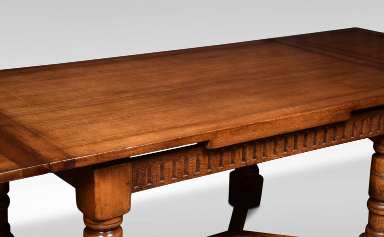 Very Large Oak Draw Leaf Refectory Table 1