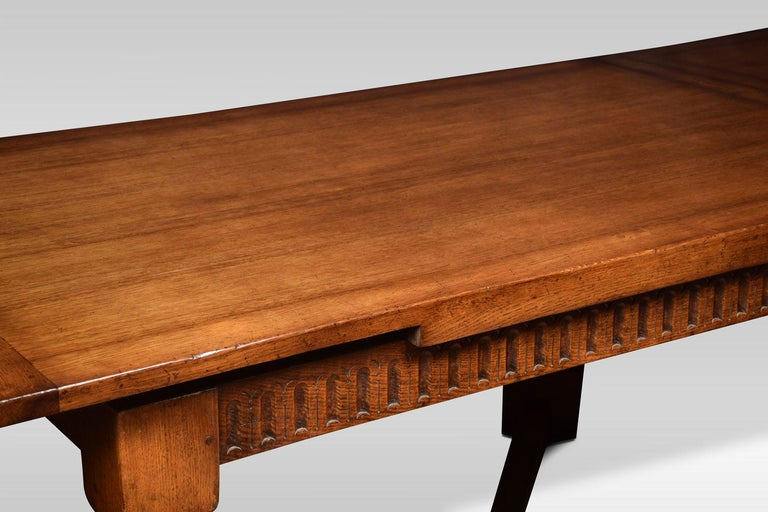 Very Large Oak Draw Leaf Refectory Table 2