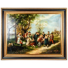Very Large Old Master Wood Framed Oil / Canvas Painting