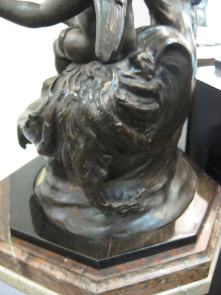 Very Large Original French 19th Century spelter Statue Signed Hippolyte Moreau For Sale 8