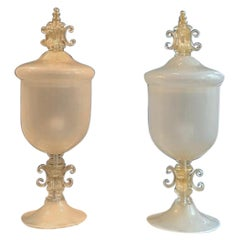 Very Large Pair of Lamps Murano Glass with Loads of 24-Karat Gold, Pauly & Co.