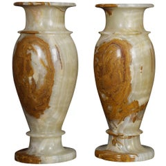 Very Large Pair of Onyx Vases