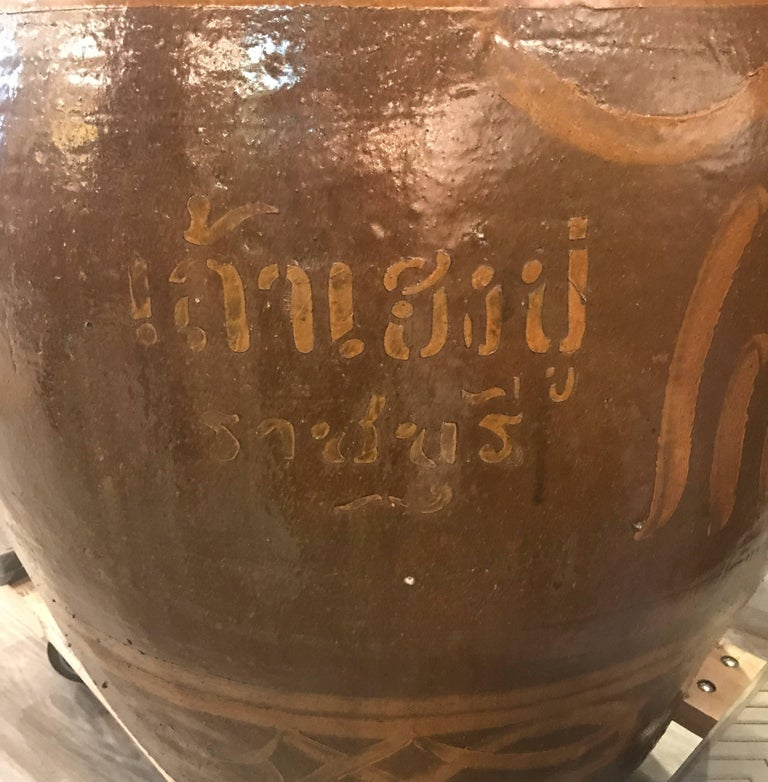 20th Century Very Large Pair of Thai Floor Urns For Sale