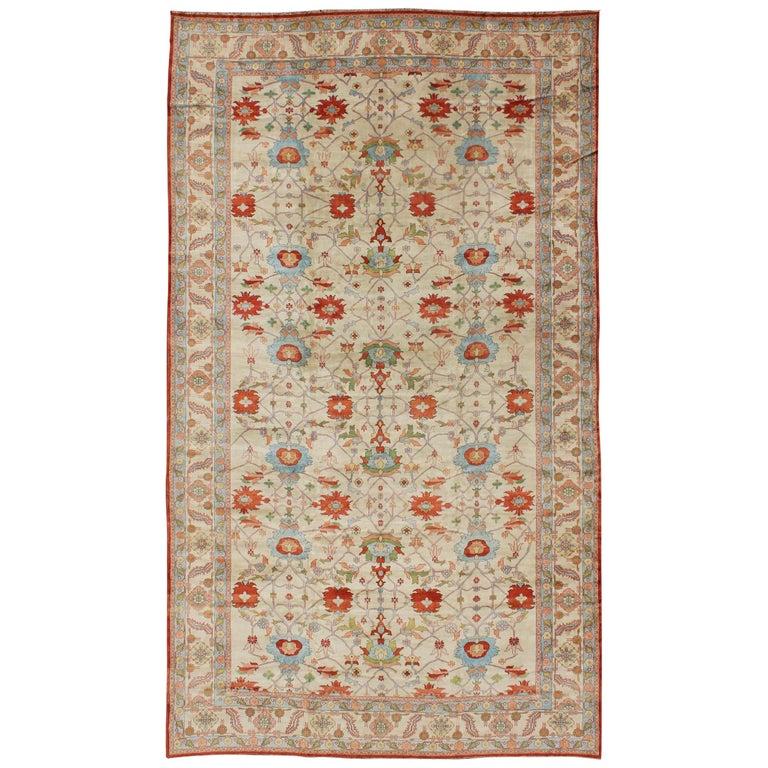 Very Large Persian Vintage Serapi Rug