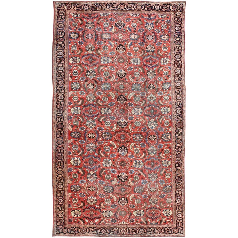 Very Large Persian Sultanabad Mahal Rug