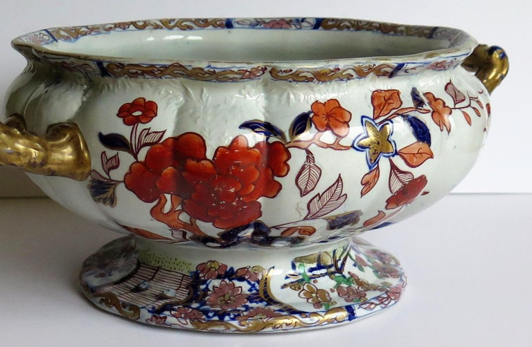 Very Large Rare Early Mason S Ironstone Bowl In Peking