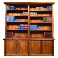 Very Large Reformed Gothic Oak Bookcase