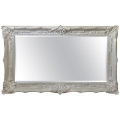 Very Large Romantic French Style Light Gray Mirror