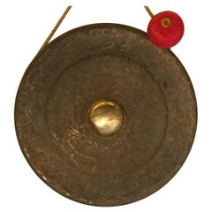 Very Large Scale Bronze Gong with Striker