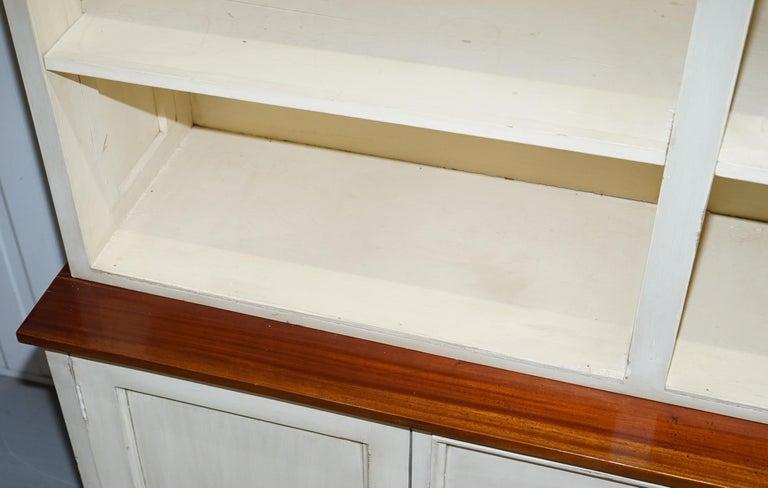 Very Large Shaker Kitchen Haberdashery Cupboard Dresser Bookcase Paneled Oak For Sale 4
