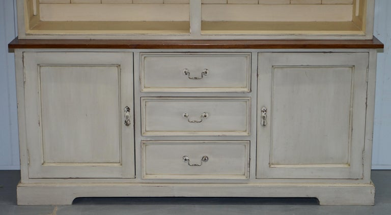 Very Large Shaker Kitchen Haberdashery Cupboard Dresser Bookcase Paneled Oak For Sale 5