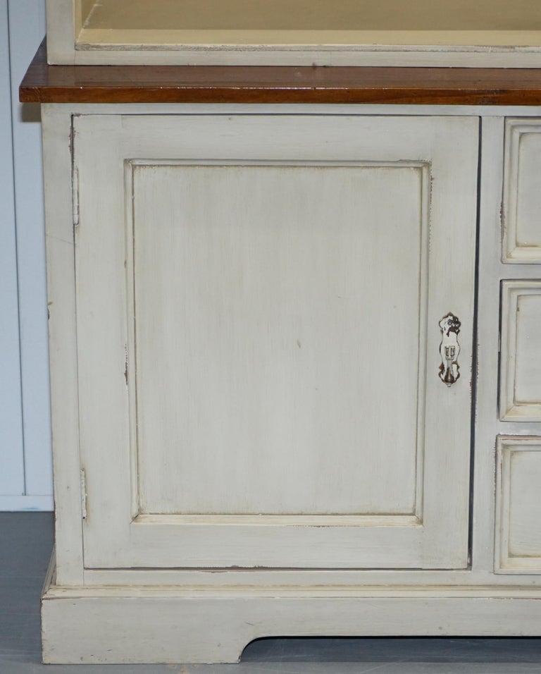 Very Large Shaker Kitchen Haberdashery Cupboard Dresser Bookcase Paneled Oak For Sale 6