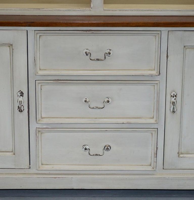 Very Large Shaker Kitchen Haberdashery Cupboard Dresser Bookcase Paneled Oak For Sale 7