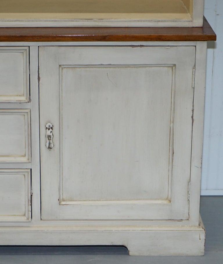 Very Large Shaker Kitchen Haberdashery Cupboard Dresser Bookcase Paneled Oak For Sale 8