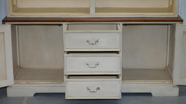 Very Large Shaker Kitchen Haberdashery Cupboard Dresser Bookcase Paneled Oak For Sale 9