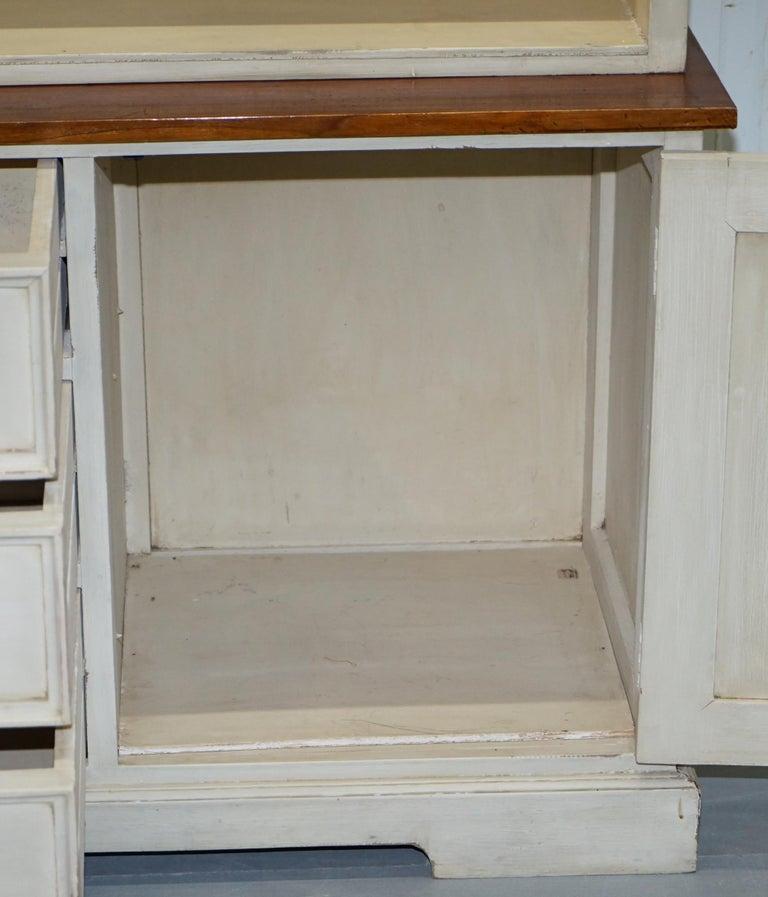 Very Large Shaker Kitchen Haberdashery Cupboard Dresser Bookcase Paneled Oak For Sale 10