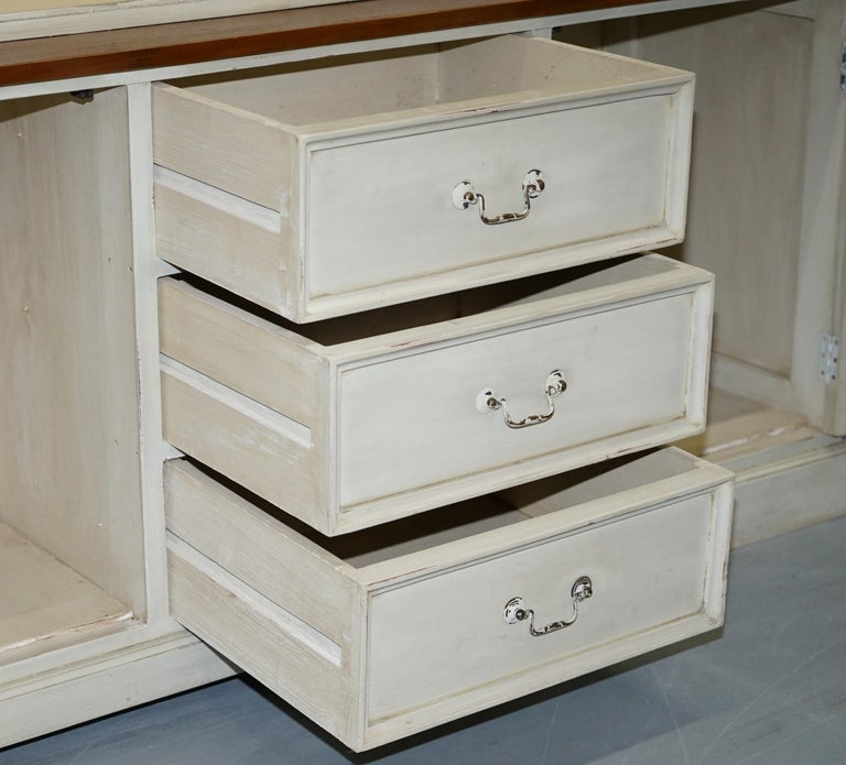 Very Large Shaker Kitchen Haberdashery Cupboard Dresser Bookcase Paneled Oak For Sale 11