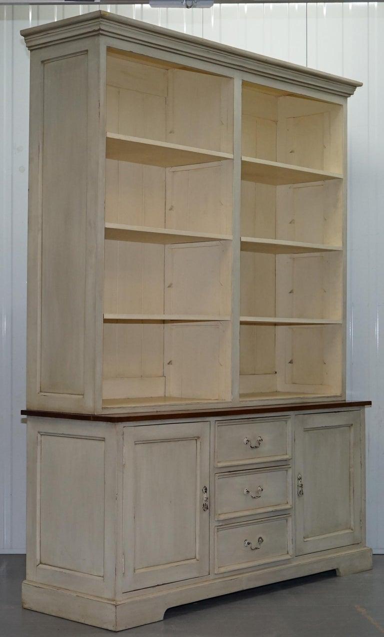 Very Large Shaker Kitchen Haberdashery Cupboard Dresser Bookcase Paneled Oak For Sale 12