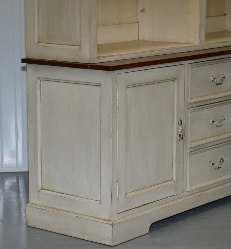 Very Large Shaker Kitchen Haberdashery Cupboard Dresser Bookcase Paneled Oak For Sale 13