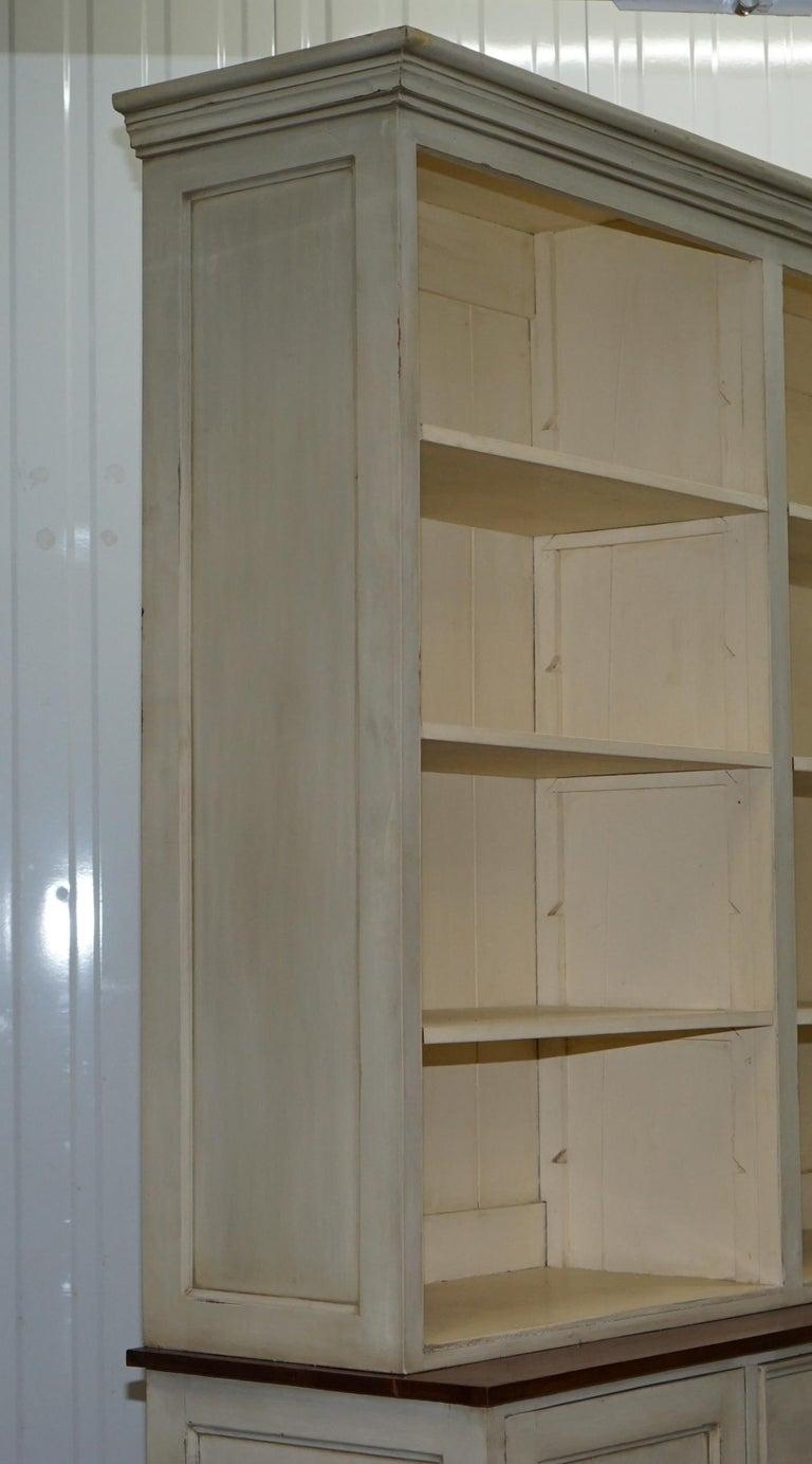 Very Large Shaker Kitchen Haberdashery Cupboard Dresser Bookcase Paneled Oak For Sale 14